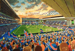 new Ibrox on matchday print